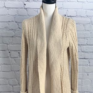 Anthropologie long open front cardigan